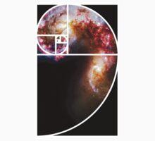 Fibonacci Spiral Galaxy One Piece - Short Sleeve