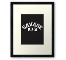 SAVAGE - AF Framed Print