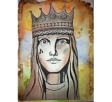 Queen of cards (in color) Photographic Print