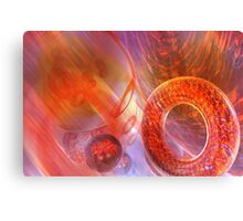Mathematics abstract with movement in time and space Canvas Print