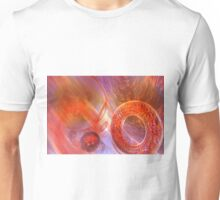 Mathematics abstract with movement in time and space Unisex T-Shirt