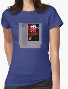 Pissed OFF Panda 8-bits of HATE Video Game (textless) Womens Fitted T-Shirt
