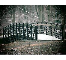 Winter Bridge Photographic Print