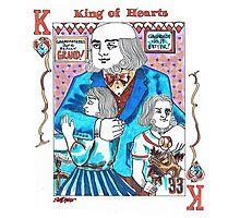 Modern King of Hearts Photographic Print