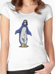 Hyouka: Eru Chitanda Penguin Outfit Pose Women's Fitted Scoop T-Shirt