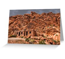 Ƹ̴Ӂ̴Ʒ ROCK CABINS AT VALLEY OF FIRE STATE PARK NEAR LAS VEGAS NEVADA Ƹ̴Ӂ̴Ʒ Greeting Card