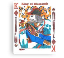 Modern King of Diamonds Canvas Print