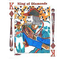 Modern King of Diamonds Photographic Print