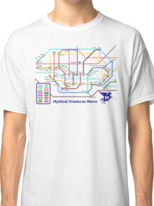 Epic Mythical Creatures Underground Map Classic T-Shirt