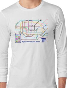 Epic Mythical Creatures Underground Map Long Sleeve T-Shirt