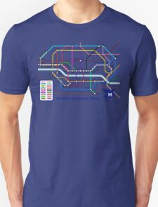 Epic Mythical Creatures Underground Map T-Shirt