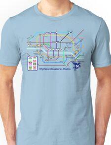 Epic Mythical Creatures Underground Map Unisex T-Shirt
