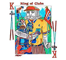 Modern King of Clubs Photographic Print