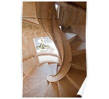 Tomar. Convent of Christ. Cloister stairs Poster