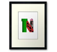 Geek letter N Framed Print