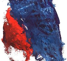 grunge red and blue splashes by SoloMew