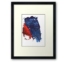 grunge red and blue splashes Framed Print