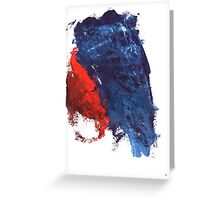 grunge red and blue splashes Greeting Card