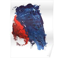 grunge red and blue splashes Poster