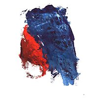 grunge red and blue splashes Photographic Print