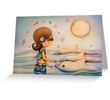 dolphin paradise Greeting Card