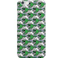 Horned Warrior Friends pattern (unicorn, narwhal, triceratops, rhino) iPhone Case/Skin