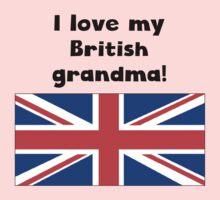 I Love My British Grandma Baby Tee