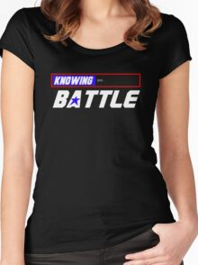 Half the Battle Women's Fitted Scoop T-Shirt