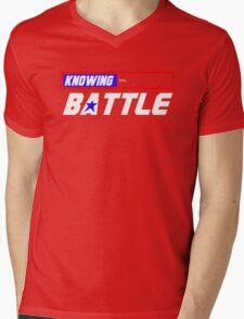Half the Battle Mens V-Neck T-Shirt