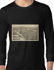 Panoramic Maps Wilkes-Barre Pennsylvania 1889 Long Sleeve T-Shirt