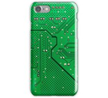 Green circuit board as a structural background  iPhone Case/Skin