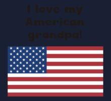 I Love My American Grandpa Kids Tee