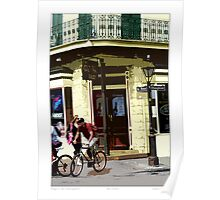 Biking In The French Quarter Poster