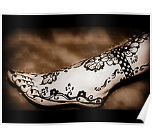 That's Some Ankle!  {Henna Art Sepia Tones} Poster