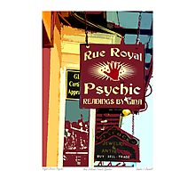 Royal Street Psychic Photographic Print