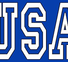 USA, United States of America, Patriot, America, American, US, BLACK & WHITE on BLUE by TOM HILL - Designer