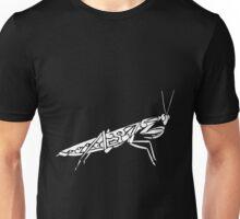 Mantis Tribal Design - White Unisex T-Shirt