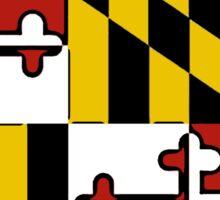 Georgia outline Maryland flag Sticker