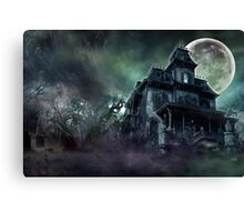The Haunted House Paranormal Canvas Print