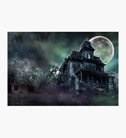 The Haunted House Paranormal Photographic Print