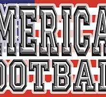 FOOTBALL, GAME, SPORT, United States of America, American football, Gridiron, Grid iron, USA, Flag by TOM HILL - Designer