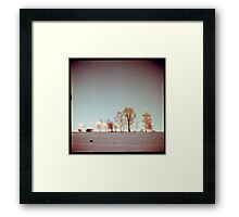 Winter horizont Framed Print