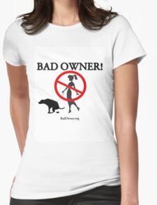 BadOwner Clothes - Sick of the Poo Womens Fitted T-Shirt