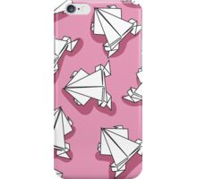 Origami pink frogs iPhone Case/Skin