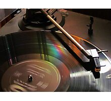 Vinyl Rainbow Photographic Print