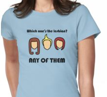Which One's The Lesbian? Womens Fitted T-Shirt