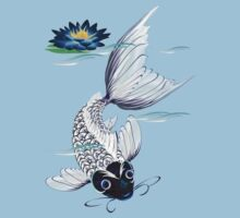 White Koi-Blue Lily  by Lotacats