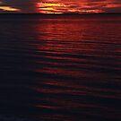 Rockingham Beach Sunset. by Christina Thomas
