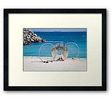 Sculptures by the Sea 3 - with Seagulls Framed Print