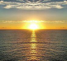 Sunrise at Sea by julieapearce